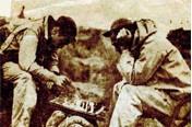 Byron Playing Chess on Iwo Jima after the Battle