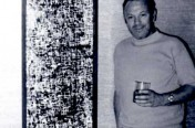 Byron during his Jackson Pollack painting phase