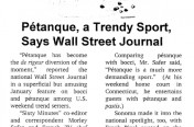 Wall Street is Trendy on Petanque